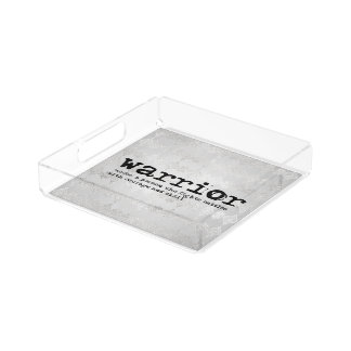 Imitat-silberne metallische Krieger-Definition Acryl Tablett