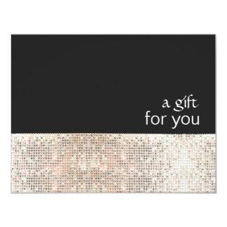 IMITAT silberne Sequins-schwarzes 10,8 X 14 Cm Einladungskarte