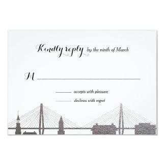 Imitat-silberne uAwg-Karte Charlestons South 8,9 X 12,7 Cm Einladungskarte