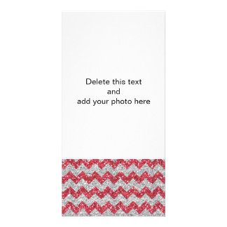 Imitat-silberner Glitter-Zickzack Bildkarte