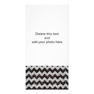 Imitat-silberner Glitter-Zickzack Photokarten