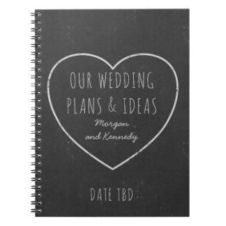 Imitat-Tafel-Hochzeits-Plan-und Ideen-Zeitschrift Spiral Notizblock