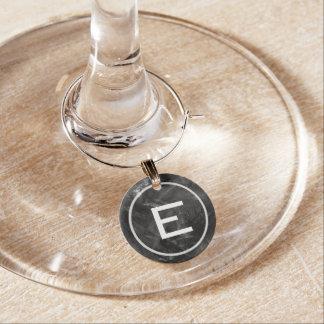 Imitat-Tafel-Monogramm-Wein-Glas-Charme Glasmarker