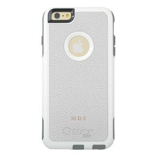 Imitat-weißes Leder OtterBox Gewohnheits-Initialen OtterBox iPhone 6/6s Plus Hülle