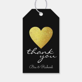 Imitatgoldherz der Liebe, danke Hochzeiten Geschenkanhänger