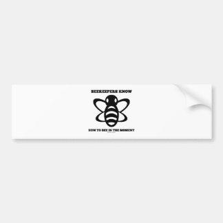 Imker können, zur Biene im Moment (Biene) Autoaufkleber