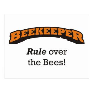 Imker - Regel über den Bienen! Postkarte