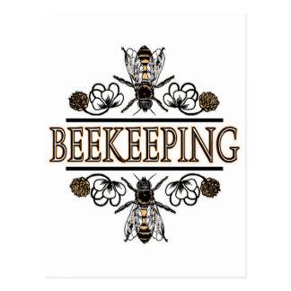 Imkerei mit Arbeitskraftbienen Postkarte