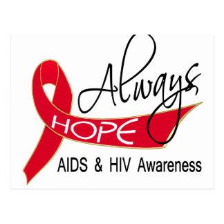 Immer Hoffnung AIDS Postkarte