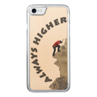 Immer höher! Grauer Entwurf Carved iPhone 8/7 Hülle