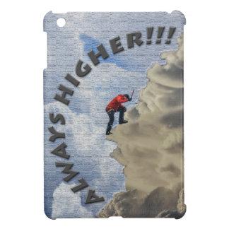 Immer höher! Grauer Entwurf iPad Mini Hülle