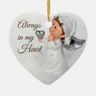 Immer in meiner Herzverzierung Keramik Ornament