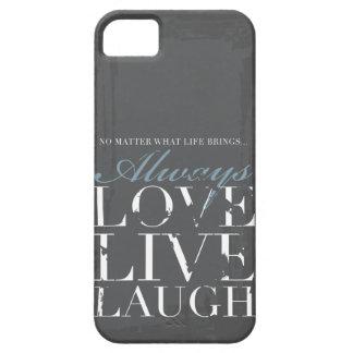 Immer Liebe, Live, Lachen - Grunge-graue Abdeckung Hülle Fürs iPhone 5