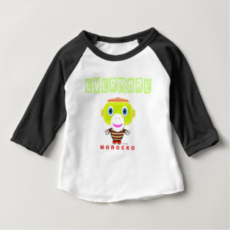 Immer-Niedlicher Affe-Morocko Baby T-shirt