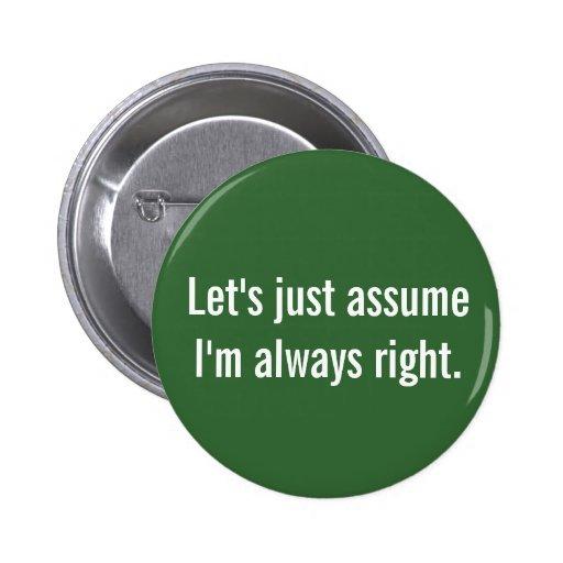 Immer Recht Button