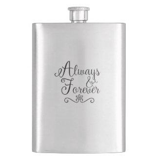 Immer und für immer Wedding Flaschen-Geschenk Flachmann