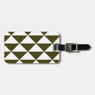 Immergrüne und weiße Dreiecke Gepäckanhänger