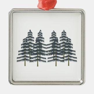 Immergrüne Vergnügen Silbernes Ornament