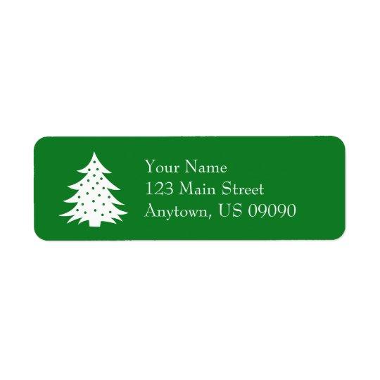 Immergrüne Weihnachtsbaum-Adressen-Etiketten Rücksendeetikett