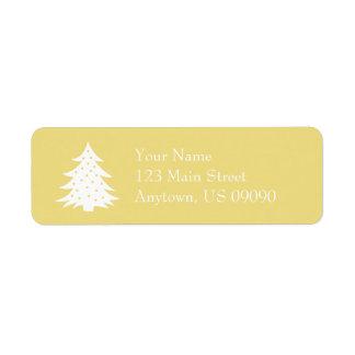 Immergrüne Weihnachtsbaum-Adressen-Etiketten Rückversand-Adressaufkleber