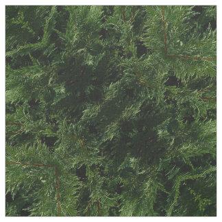 Immergrüner Baum - Zypresse-Äste Stoff