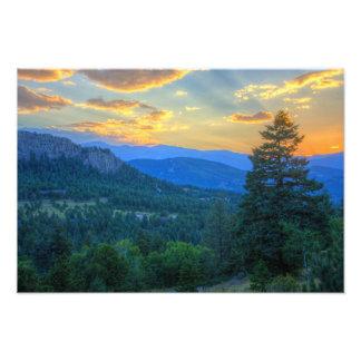 Immergrüner Sonnenuntergang Fotodruck