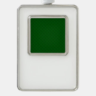 Immergrünes grünes Steppdecken-Muster Rahmen-Ornament Silber