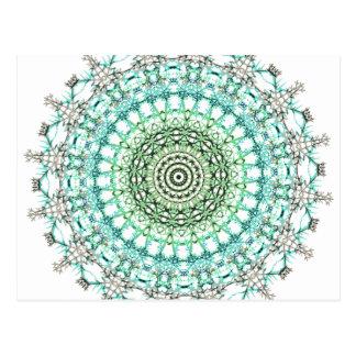 Immergrünes Mandala-Muster Postkarten