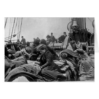 Immigranten an Bord des Dampfers Karte