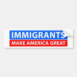 Immigranten machen Amerika groß Autoaufkleber