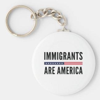Immigranten sind Amerika Schlüsselanhänger
