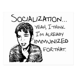 Immunisiert für Sozialisierung Postkarte