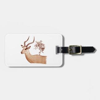Impala-Antilopen-Tierwild lebende tiere, die Gepäckanhänger