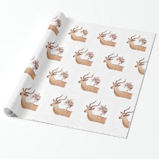 Impala-Antilopen-Tierwild lebende tiere, die Geschenkpapier