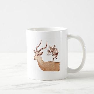 Impala-Antilopen-Tierwild lebende tiere, die Kaffeetasse