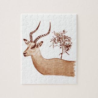 Impala-Antilopen-Tierwild lebende tiere, die Puzzle