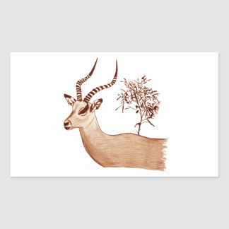 Impala-Antilopen-Tierwild lebende tiere, die Rechteckiger Aufkleber