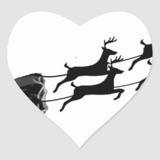Impala im Flug Herz-Aufkleber