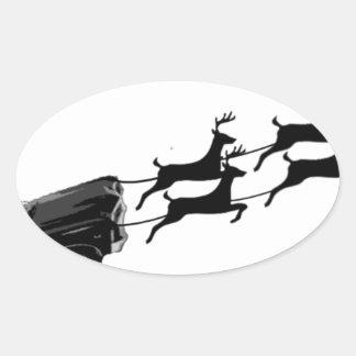 Impala im Flug Ovaler Aufkleber