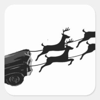 Impala im Flug Quadratischer Aufkleber