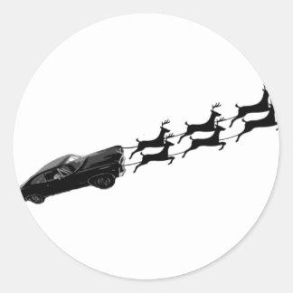 Impala im Flug Runder Aufkleber