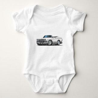 Impala-weißes Kabriolett 1965-66 Baby Strampler