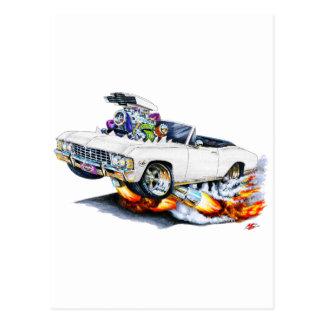 Impala-weißes Kabriolett 1965-66 Postkarte