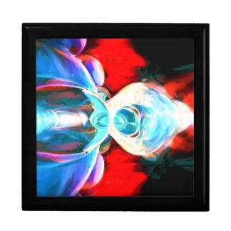 Implosion abstrakt gemalt geschenkbox