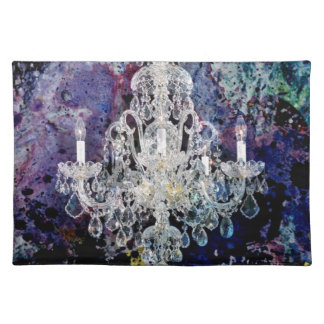 Impressionismus-Aquarell Edwardian Leuchter Tischset
