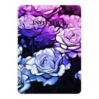 Impressionismus Shabby Chic-blaue lila Rosen Karte