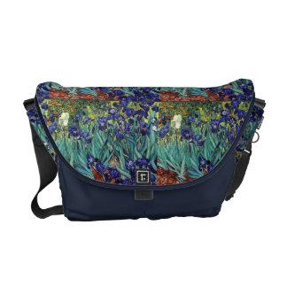 Impressionismus Van Gogh Irises die Blumen Blumen Kuriertasche