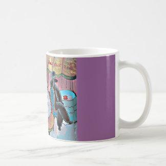 Impressionist-Kunst-Pudel-Paris-Café-Tassen-Schale