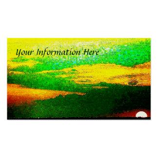 Impressionist-Sonnenuntergang von den SeeVisitenka Visitenkarten