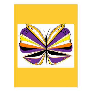 Impressionistischer Schmetterling Postkarte